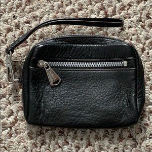 Aimee Kestenberg Black Leather Clutch/Wristlet